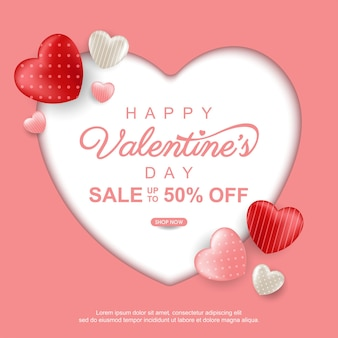 Valentinstag mit süßem herzen hintergrund