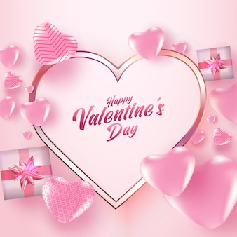 Valentinstag mit vielen herzen.