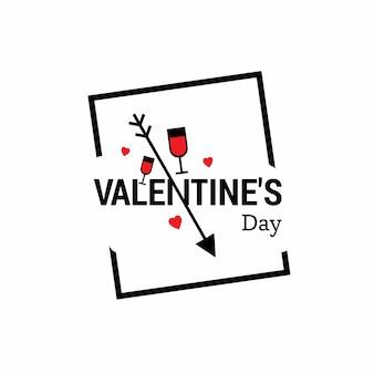 Valentinstag mit weißem hintergrund