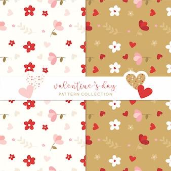 Valentinstag muster liebe