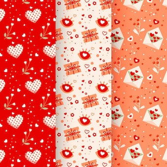 Valentinstag muster sammlung