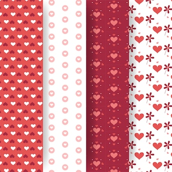 Valentinstag-mustersammlung im flachen design