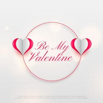 Valentinstag nachricht design mit herzen