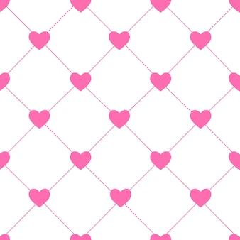 Valentinstag nahtlose herz-muster-vektor-illustration. eps10
