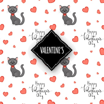Valentinstag nahtlose muster. cartoon-stil. vektor-illustration.