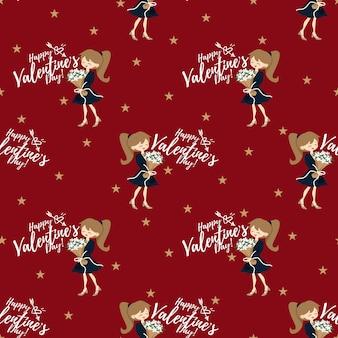Valentinstag nahtlose muster