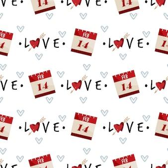 Valentinstag nahtlose muster.
