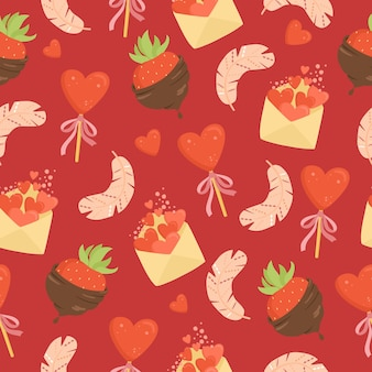 Valentinstag nahtloses muster