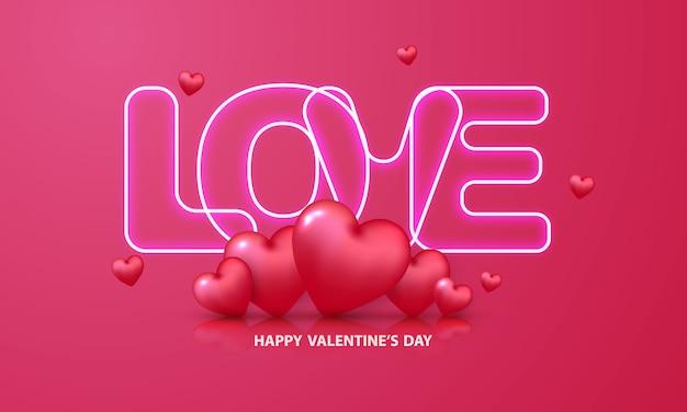 Valentinstag neon text.