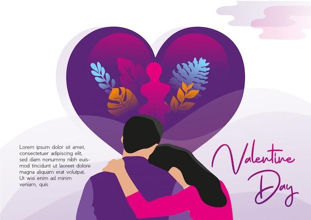 Valentinstag-neuer vektor