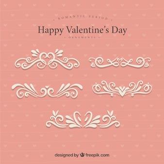 Valentinstag ornamente im viktorianischen stil