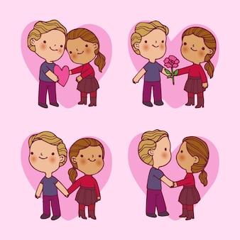 Valentinstag-paar-auflistung