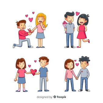 Valentinstag-paar-sammlung