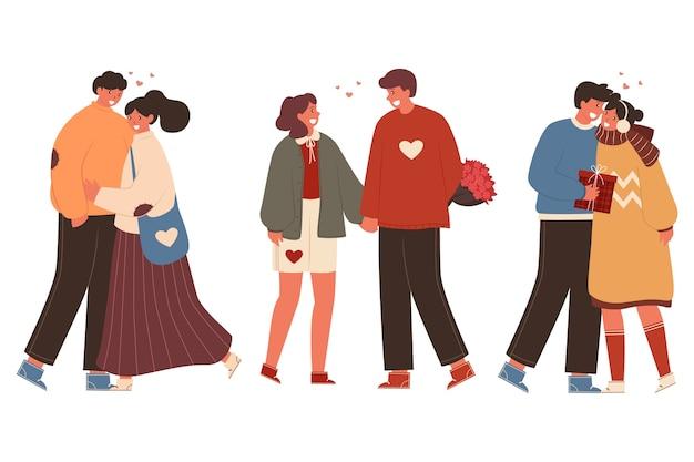Valentinstag paar sammlung