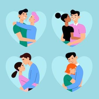 Valentinstag paar sammlungsdesign
