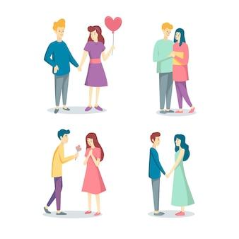Valentinstag paar sammlungskonzept