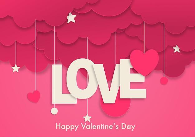 Valentinstag papierkunst design