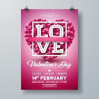 Valentinstag party flyer design