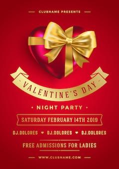 Valentinstag party flyer entwurfsvorlage