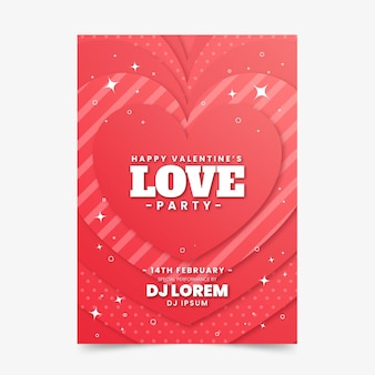 Valentinstag party flyer