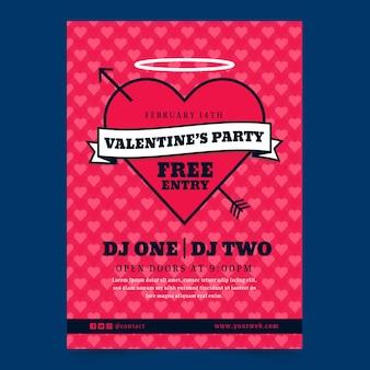 Valentinstag party plakat konzept