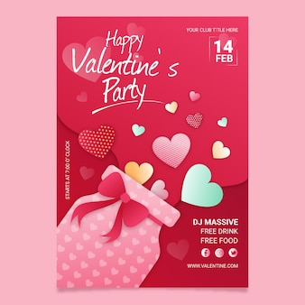 Valentinstag party poster vorlage