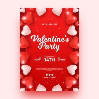 Valentinstag party poster vorlage