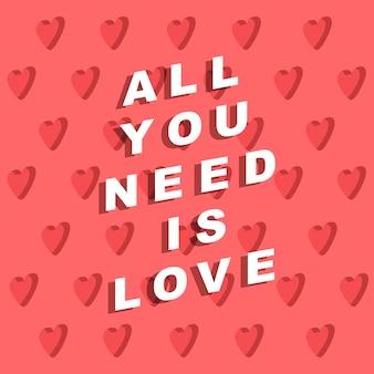 Valentinstag poster print papier textil kartendesign vektor-illustration