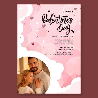 Valentinstag poster vorlage Kostenlosen Vektoren