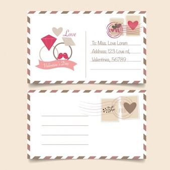 Valentinstag postkarte design