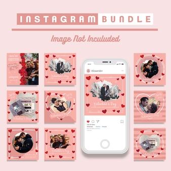 Valentinstag-rabatt instagram post-vorlage