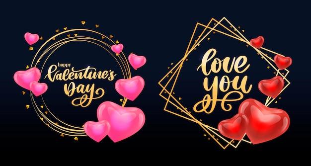 Valentinstag-rahmensammlung