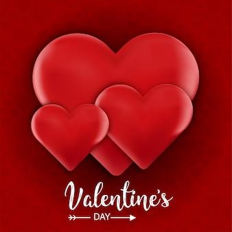 Valentinstag realistic heart hintergrund