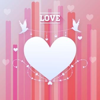 Valentinstag-romantische liebe-herz-vektor-illustration