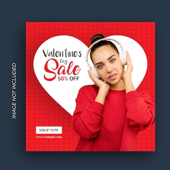 Valentinstag sale banner