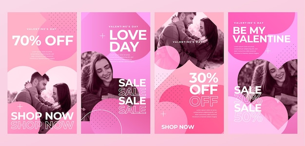 Valentinstag sale story set