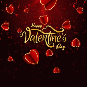 Valentinstag schön mit herzen