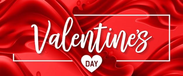 Valentinstag schriftzug im rahmen