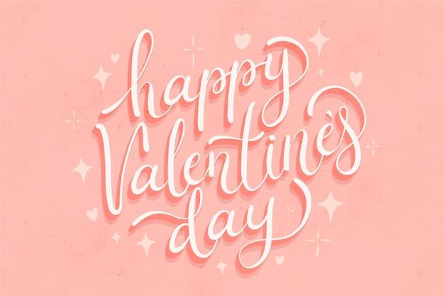 Valentinstag schriftzug konzept