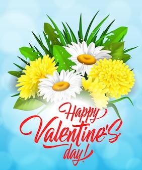 Valentinstag schriftzug mit haufen