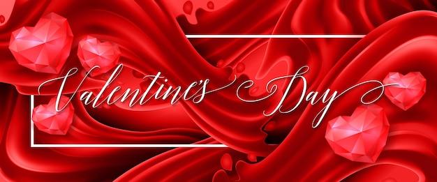 Valentinstag schriftzug rote fahne