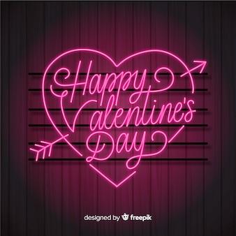 Valentinstag-schriftzug
