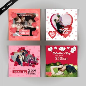 Valentinstag social-media-beitrag