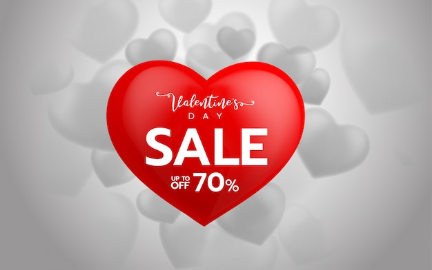 Valentinstag sonderangebot verkauf hintergrund