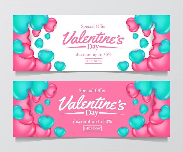 Valentinstag sonderverkauf angebot banner