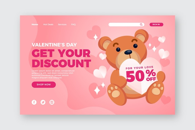 Valentinstag-sonderverkauf-vorlage