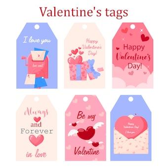 Valentinstag tags für weihnachtsgeschenke.