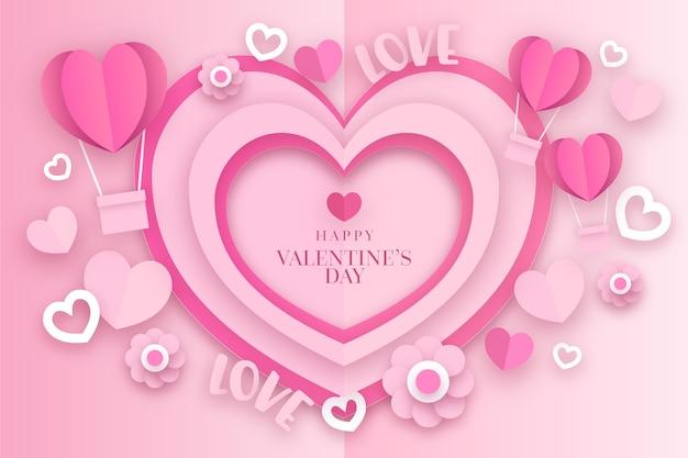 Valentinstag tapete in der papierart