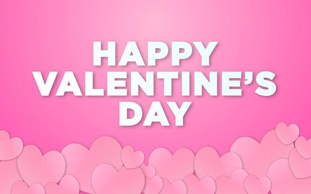 Valentinstag tapete mit pastellthema