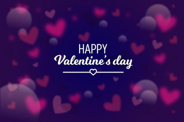 Valentinstag tapete mit unscharfen elementen
